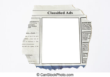 Classified Ads with blank white space ready for your...