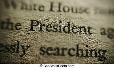 Classified document intelligence report focus on president ...