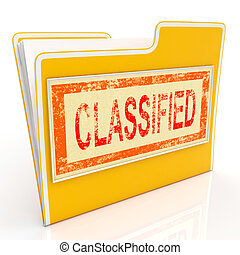 Classified File Shows Confidential Documents Or Papers