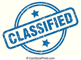classified grunge stamp - classified round vintage grunge...
