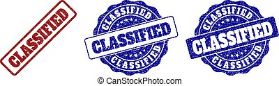 CLASSIFIED Grunge Stamp Seals