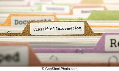 Classified Information Concept on Folder Register.