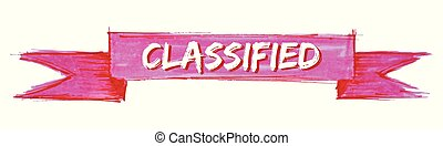 classified ribbon - classified hand painted ribbon sign