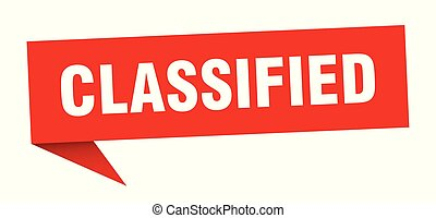 classified speech bubble. classified sign. classified banner