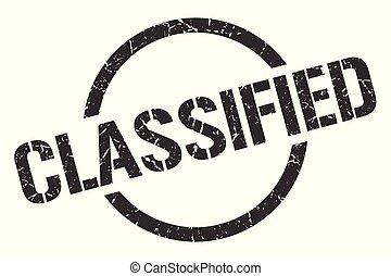 classified stamp - classified black round stamp