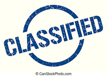 classified stamp - classified blue round stamp