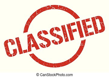 classified stamp - classified red round stamp