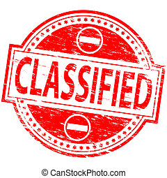 """Classified Stamp - Rubber stamp illustration showing """"..."""