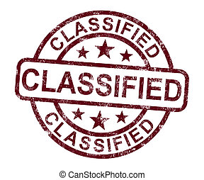 Classified Stamp Shows Secret Private Correspondence - ...
