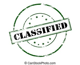 Classified - Stamp with word classified inside, vector ...