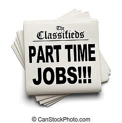 classifieds, afdelingen, arbejde, tid