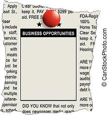 classifieds, affari, opportunità