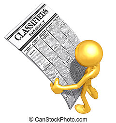 classifieds, empleo, lectura