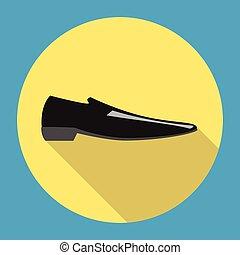 classique, chaussure noire, homme
