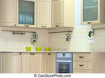 classique, cuisine, intérieur
