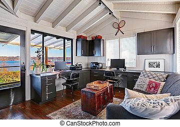 Style bureau classique luxe tropique maison maison style