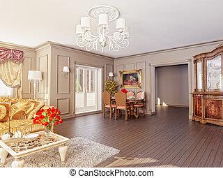 Int rieur maison classique classique image fond for Maison classique interieur