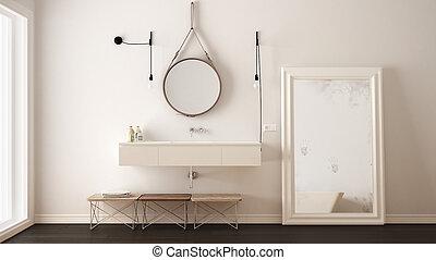 classique, moderne, conception, minimalistic, intérieur, salle bains