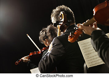 classique, music., violonistes, dans, concert