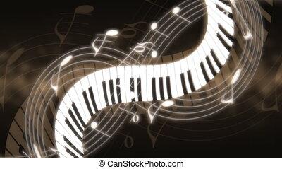 classique, musique, clés, couleurs, notes