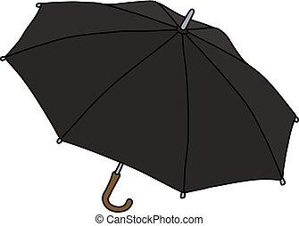 classique, parapluie, noir