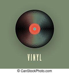 classique, record., illustration, vecteur, musique, vinyle