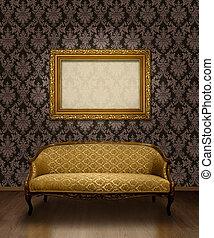 classique, sofa, et, cadre