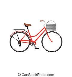 classique, vélo, icône