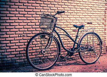 classique, vendange, retro, ville, vélo