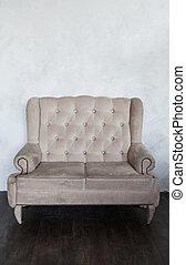 classique, vieux, fauteuil