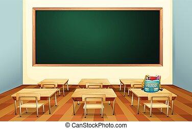 Classroom - Illustration of an empty classroom
