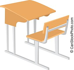 Classroom, illustration, vector on white background.