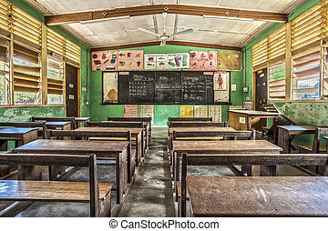 Classroom in Ghana, West Africa - Classroom in Elementary...