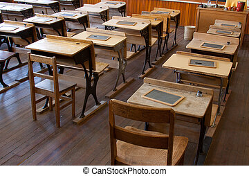 Classroom scene showing education and education concepts.