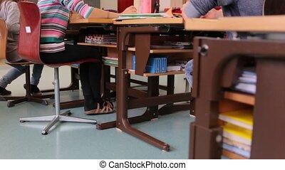 Classroom School Desks - School desks in the classroom