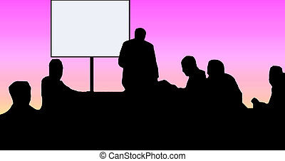 Classroom silhouette - Taken from an actual photo, this...