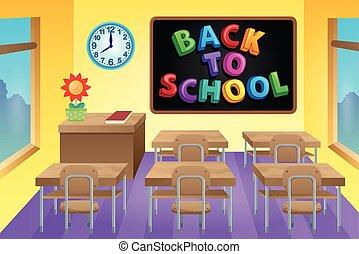 Classroom theme image 4 - eps10 vector illustration.