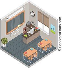 Classroom - Vector illustration of an empty classroom