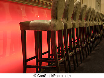 Classy Bar Stools - A upscale bar with classy stools.