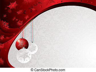 classy christmas - Classy christmas background with baubels ...