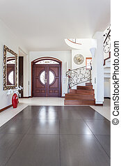 Classy house - Entry - Classy house - Wooden huge door in ...
