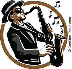Classy Jazzy - black blues and jazzy saxophone player