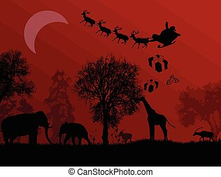 Claus, アフリカ,  santa