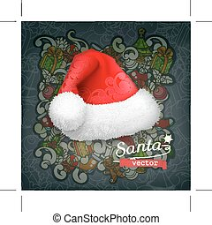 claus, 帽子, santa
