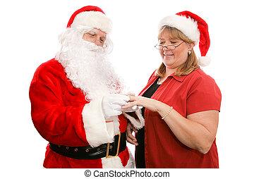 claus, 贈り物, santa, ∥夫人∥
