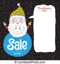 claus, badge, verkoop, kerstman, kerstmis
