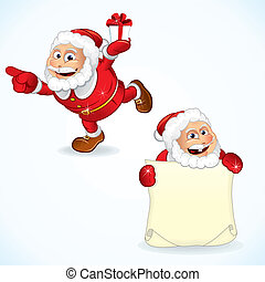 claus, cartoon, santa