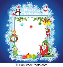 claus, desejando, santa, feliz natal
