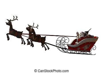 claus, el suyo, reindeers, santa