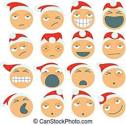 claus, figuren, spotprent, kerstman